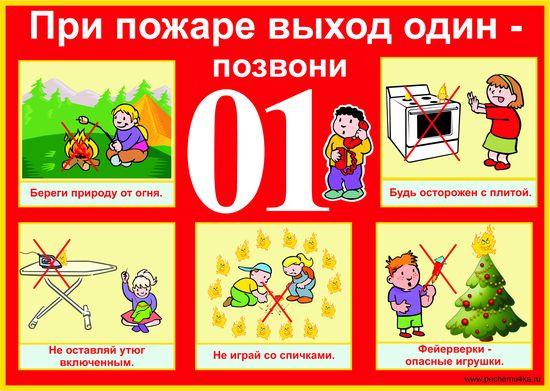 Плакаты на тему пожарная безопасность для детей